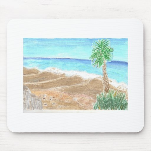 A Day At The Beach Mousepads
