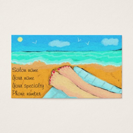 A Day at the Beach Pedicurist Business Card