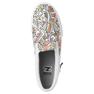 A Day At The Beach-Whimsical Abstract Art Printed Shoes