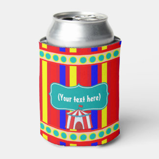 A Day at the Circus Kids Party Personalized Can Cooler
