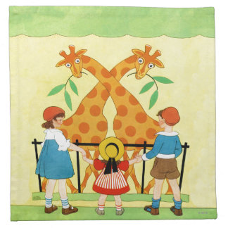 A Day At The Zoo Napkin