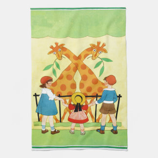 A Day At The Zoo Tea Towel