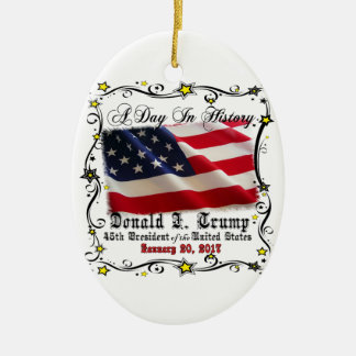 A Day In History Trump Pence Inauguration Christmas Ornament