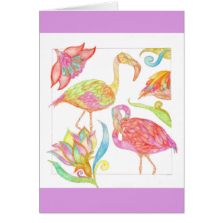 A Day In Paradise birthday greeting card in violet