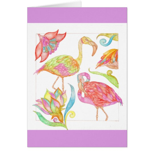 A Day In Paradise birthday greeting card in