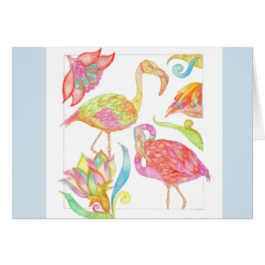 A Day In Paradise greeting card