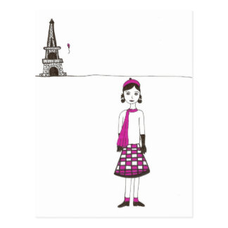 A day in Paris France Postcard