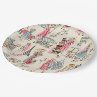 A Day in Paris Paper Plate