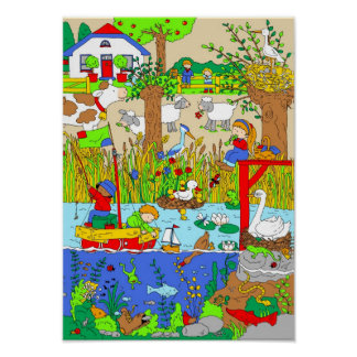 A Day in the Countryside Poster