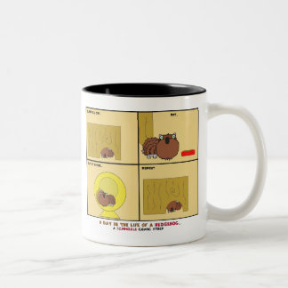 A Day in the Life of a Hedgehog Schnozzle Comic Two-Tone Mug