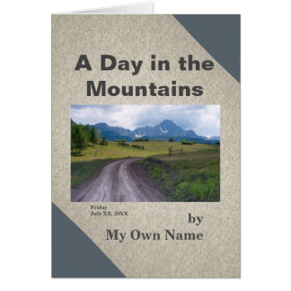 A Day in the Mountains Mini-Memoir Template Card
