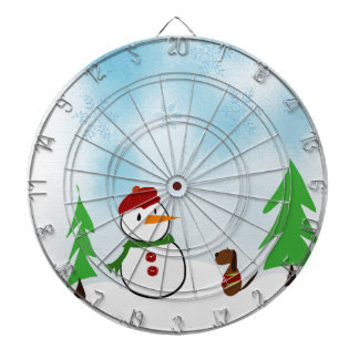 A day in the snow dartboard