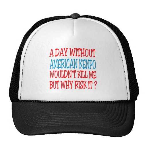 A Day Without American Kenpo. Mesh Hat