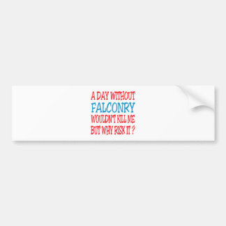 A Day Without Falconry Wouldn t Kill Me Bumper Sticker