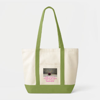 A day without knitting is like a day ... tote bag