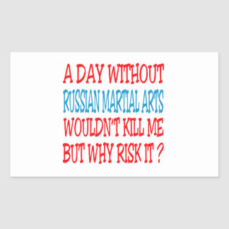 A Day Without Russian Martial Arts. Stickers