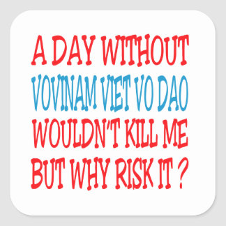 A Day Without Vovinam Viet vo Dao. Square Stickers