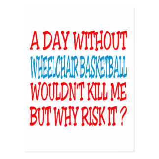 A Day Without Wheelchair Basketball Wouldn t Kill Postcard