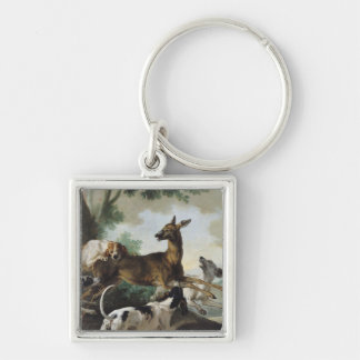 A Deer Chased by Dogs, 1725 Key Ring