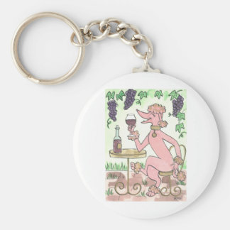 A Delectable Glass of Pinot Noir Keychain