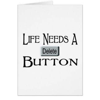 A Delete Button Greeting Cards