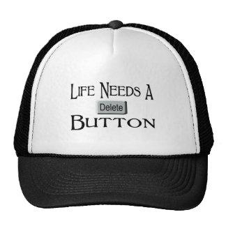 A Delete Button Trucker Hats