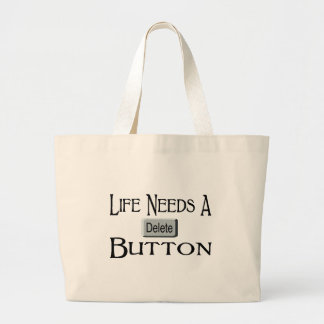 A Delete Button Large Tote Bag