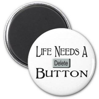 A Delete Button Refrigerator Magnets