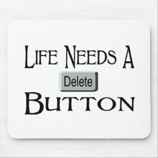 A Delete Button Mouse Pads