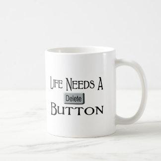 A Delete Button Coffee Mugs