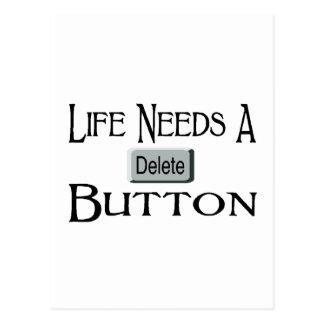 A Delete Button Post Card