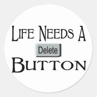 A Delete Button Stickers