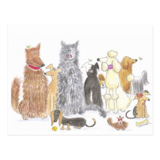 A delightful dog postcard
