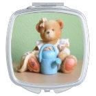 A Delightful Teddy Bear Figurine Vanity Mirror