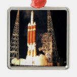 A Delta IV Heavy rocket lifts off Christmas Tree Ornaments