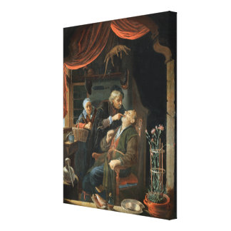 A Dentist Examining The Tooth of an Old Man (oil o Canvas Print