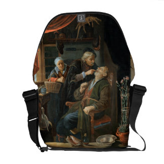 A Dentist Examining The Tooth of an Old Man (oil o Commuter Bag