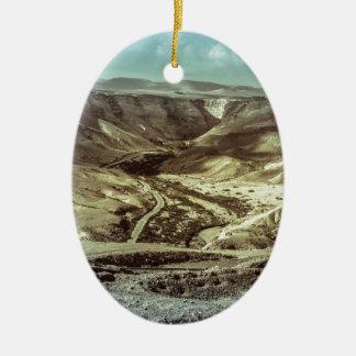 A desert storm christmas ornament