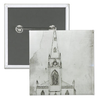 A Design for a Church, 1821 15 Cm Square Badge