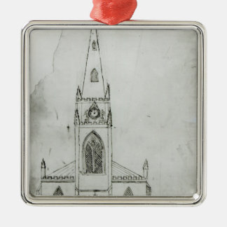 A Design for a Church, 1821 Christmas Ornament