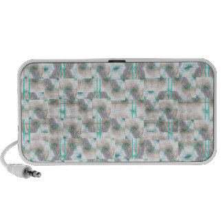 A design in mint green iPod speakers
