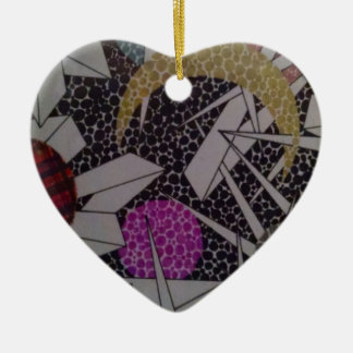 a detail of masterpiece #2 ceramic heart decoration
