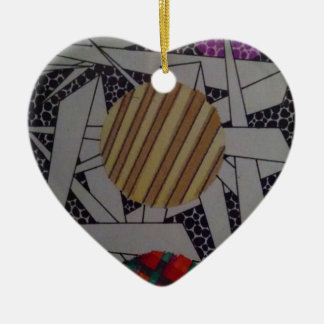 a detail of my masterpiece #1 ceramic heart decoration