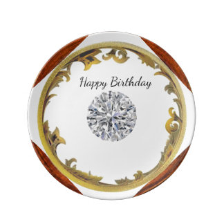 A Diamond Birthday Plate