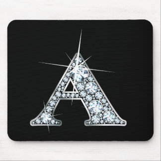 """A"" Diamond Bling Mousepad"