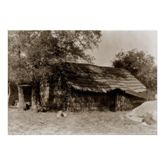 A Diegueno home, North American Indian home Poster