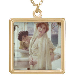 A Difference of Opinion, 1896 (oil on panel) Square Pendant Necklace