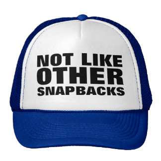 a different kind of snapback cap