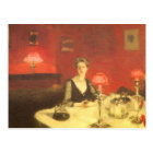 A Dinner Table at Night by Sargent, Victorian Art Postcard