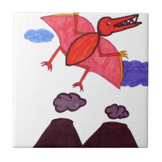 A dinosaur tile